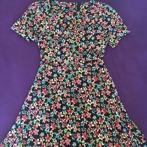 Topshop Flowered Mini Dress